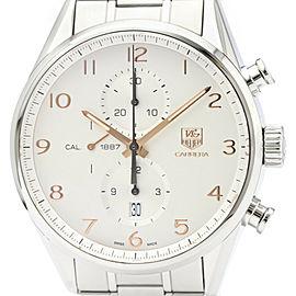 Polished TAG HEUER Carrera 1887 Chronograph Automatic Watch CAR2012
