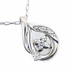4℃ 18k white gold diamond Necklace