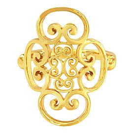 Tiffany & Co. Paloma Picasso Venezia 18K Yellow Gold Womens Ring Size 5