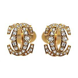 Cartier 18k Gold and Diamond Penelope Cufflinks