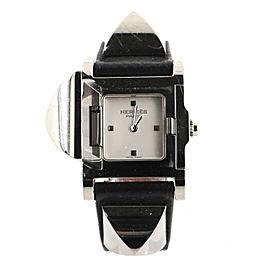 Hermes Medor Quartz Watch Plated Metal and Leather 23