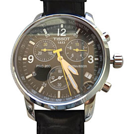 Tissot PRC 200 Stainless Steel & Leather 42mm Watch