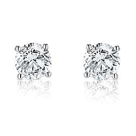 Jewelili 2ct 14k White Gold IJ I1 Diamond Earrings Studs