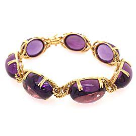 18k Yellow Gold Amethyst Bracelet