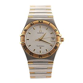 Omega Constellation Quartz Watch Stainless Steel and Yellow Gold 33