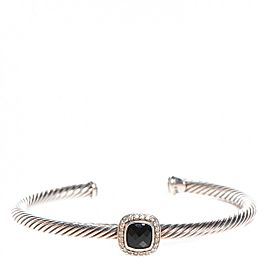 David Yurman Cable Bracelet with Black Onyx and Diamonds