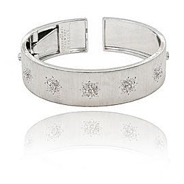 Buccellati Marci 18K White Gold & Diamond Cuff Bracelet