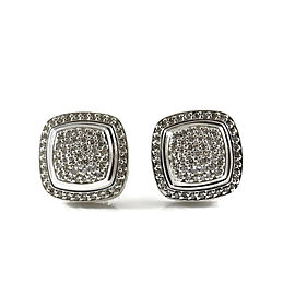 David Yurman Albion Sterling Silver with 1.20ct. Diamond Earrings