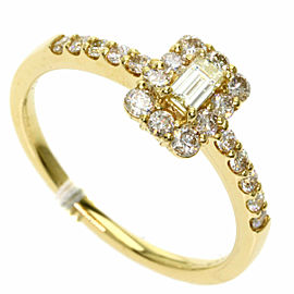 Diamond 18k Yellow Gold Ring