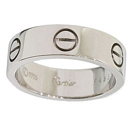 Cartier 18K White Gold Love Ring Size 6