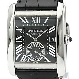 CARTIER Tank MC Steel Leather Automatic Mens Watch W5330004