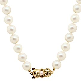 Mikimoto Akoya Pearl Necklace with 18k Gold Clasp