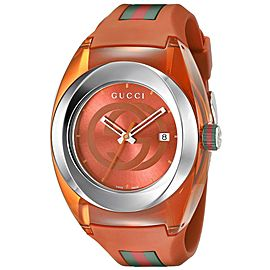 Gucci Sync XXL YA137108 Stainless Steel Orange Sun-Brushed Dial 46mm Watch