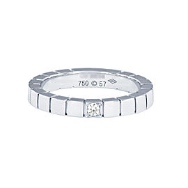Cartier 18k White Gold and Diamond Lanieres Ring