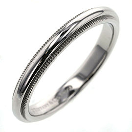 """TIFFANY & Co 950 platinum Milgrain band approx 0.1 """"wide Ring"""