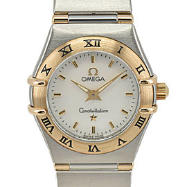 OMEGA Constellation 1362.70 SS/K18 White shell Dial Quartz Ladies Watch