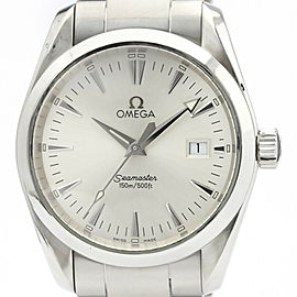 Polished OMEGA Seamaster Aqua Terra Steel Quartz Mens Watch 2518.30