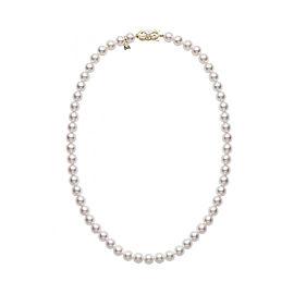 Mikimoto 18K Yellow Gold Akoya Pearl Necklace