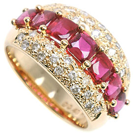 18k yellow gold/Ruby/diamond Ring HK-2491
