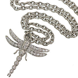 Tiffany & Co. Dragonfly Design Pendant Necklace in Platinum 950 w/Box