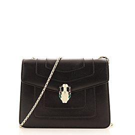 Bvlgari Serpenti Forever Square Shoulder Bag Leather Small
