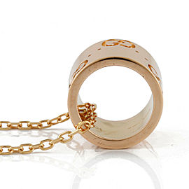 GUCCI 18k Pink gold icon Necklace CHAT-516
