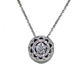 Tacori 18K White Gold & Diamond Pendant Necklace