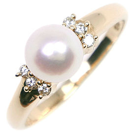 TASAKI 18k yellow gold/Pearl/diamond Ring