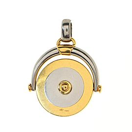 Bvlgari Horoscope Pendant Charm Pendant & Charms 18K Yellow Gold and Stainless Steel