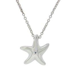 Tiffany & Co. Elsa Peretti 925 Sterling Silver Starfish Pendant Necklace
