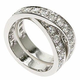 CARTIER Diamond 18k White Gold Paris Ring