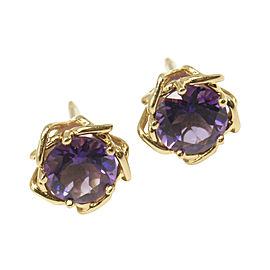 Tiffany & Co. 18K Yellow Gold with 2.20ct. Amethyst Stud Earrings