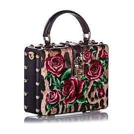 Rose Box Velvet Satchel