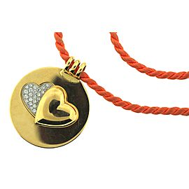 Mauboussin 18K Yellow Gold and with 1.5ctw. Heart Pendent Necklace