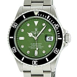 Rolex Submariner Stainless Steel Green Diamond 40mm Watch