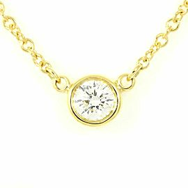 Tiffany & Co. 18K Yellow Gold Diamond By The Yard Necklace Pendant CHAT-187