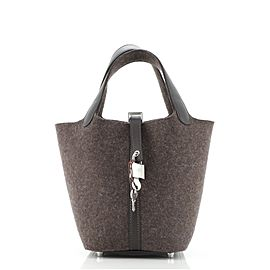 Hermes Picotin Lock Bag Felt with Leather PM