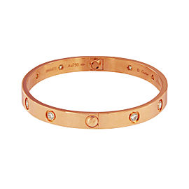 Cartier Love Bracelet 18K Rose Gold Diamond