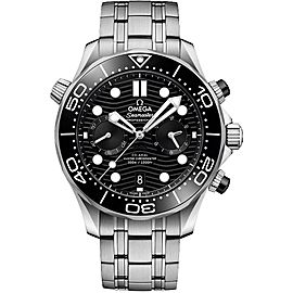 Omega Seamaster Diver 300m Co-Axial Master Chronometer Chronograph 44mm Mens Watch