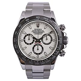 Rolex Daytona 116520 Stainless Steel White/Black Dial-Black Insert 40mm Mens Watch