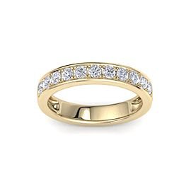Channel Set Ring In 14K Gold with 0.77ct White Diamonds