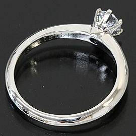 Tiffany & Co. 950 Platinum Solitaire Diamond Ring