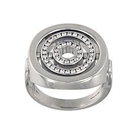 Garrard 18K White Gold Diamond Spin Ring Size 7.5