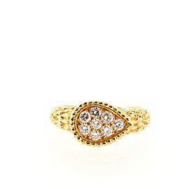 Boucheron Serpent Ring 18K Yellow Gold with Diamonds 6.25 - 53