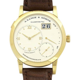 A. Lange & Sohne 101.021 18K Yellow Gold & Leather Manual 38mm Mens Watch