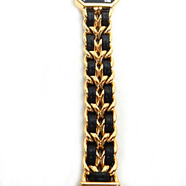 CHANEL Gold Plated/Leather Premiere XL Watch