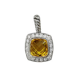 David Yurman Petite Albion Pendant Necklace with Citrine and Diamonds