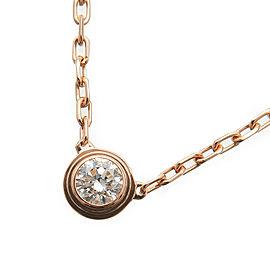 Cartier Diamants Légers Necklace SM 1P Diamond 0.09ct Rose Gold