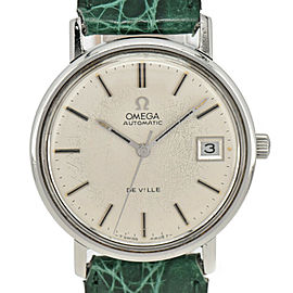 OMEGA Deville Silver Dial SS/Leather Cal.1012 Automatic Men's Watch