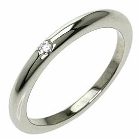 BVLGARI 1P Diamond Platinum Feddy Wedding Ring
